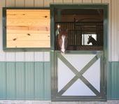 Dutch Door with crossbucks, metal inserts & interior wood fill p. 41 (E)