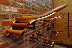 Elegant Wood & Brass Saddle Rack p. 58