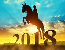 2018 jumping horse new year