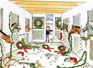 Chaos christmas at the barn