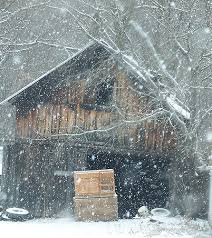 barn in snow photography blogger