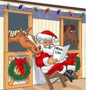 christmas horse santa