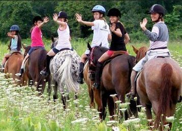 kids riding camp Forrestel Riding Camp