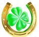 shamrock in horse shoe