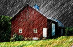 barn in rain stormy PC FineArtAmerica 11-6-18