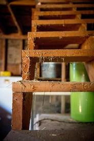hay barn stairs