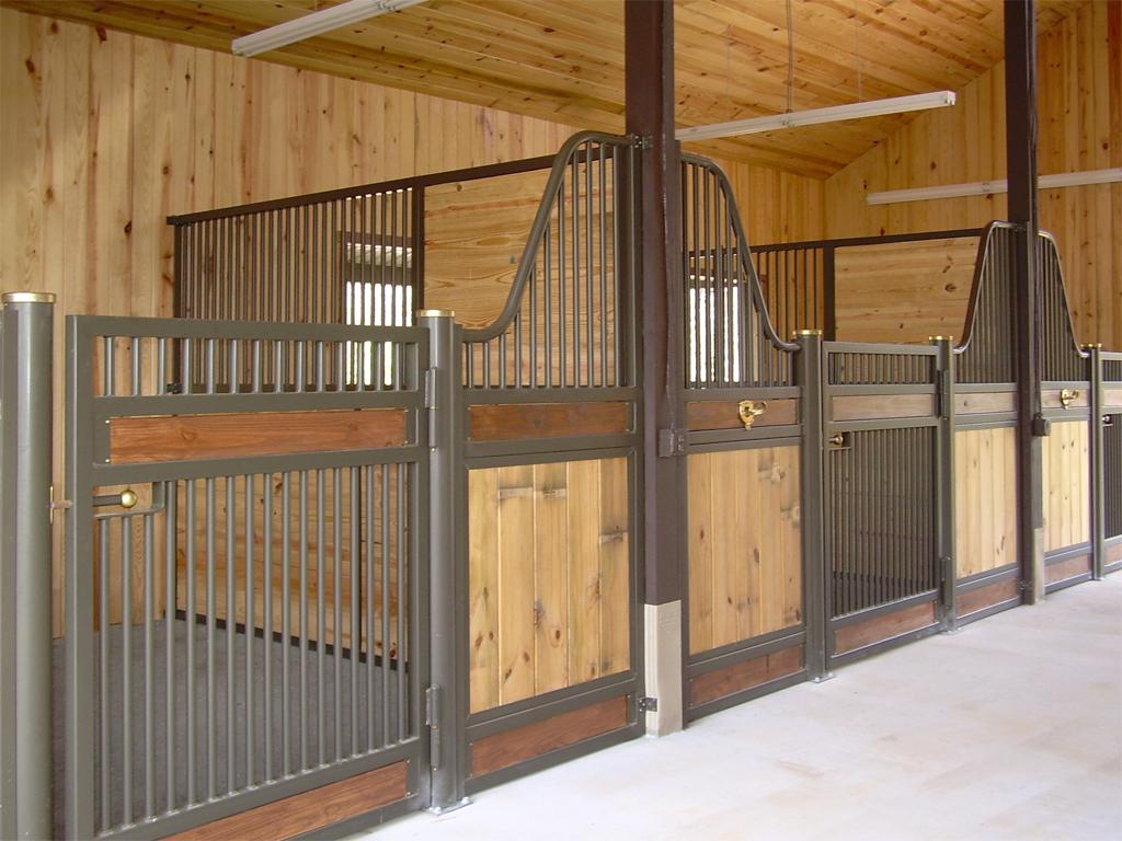 Classic equine equipment horse stalls